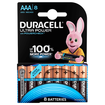 Duracell Ultra Aaa Batteries 8s (MX2400B8ULTRA)